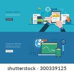 flat design modern vector... | Shutterstock .eps vector #300339125