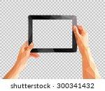 transparent polygonal hands... | Shutterstock .eps vector #300341432