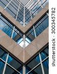 urban geometry  looking up to... | Shutterstock . vector #300345782