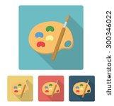 painting palette flat...   Shutterstock .eps vector #300346022