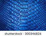 Blue Snake Skin Pattern Textur...