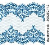 seamless lace pattern  flower... | Shutterstock .eps vector #300352442