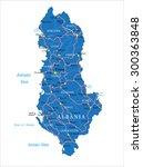 albania map | Shutterstock .eps vector #300363848