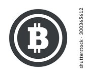 bitcoin symbol in circle  on...