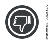 image of dislike symbol in...
