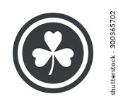 image of clover leaf in circle  ...