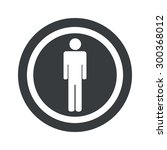 image of man symbol in circle ...