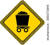 icon of loaded wagon | Shutterstock .eps vector #300372845