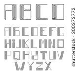 vector alphabet. labyrinth or...   Shutterstock .eps vector #300373772