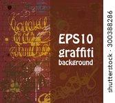 hand drawn graffiti background | Shutterstock .eps vector #300388286