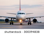 airplane ready to take off from ... | Shutterstock . vector #300394838