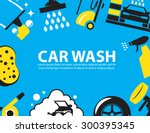 car wash background | Shutterstock .eps vector #300395345