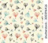seamless flat design heart... | Shutterstock . vector #300396416