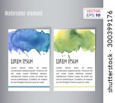 hand drawn watercolor card.... | Shutterstock .eps vector #300399176