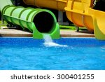 Colorful Water Slides At The...