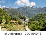 monastery on the river moraca... | Shutterstock . vector #300404048