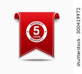 5 years warranty red vector... | Shutterstock .eps vector #300419972