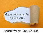 text a goal without a plan is... | Shutterstock . vector #300423185