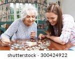 Teenage Granddaughter Helping...