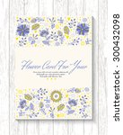 floral banner in vintage style. ... | Shutterstock .eps vector #300432098