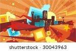 vector illustration of an... | Shutterstock .eps vector #30043963