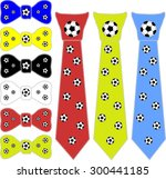 collage ties and the bow tie... | Shutterstock .eps vector #300441185
