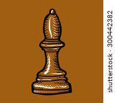 brown chess piece elephant...