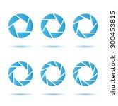 o letter segment signs  logo... | Shutterstock .eps vector #300453815