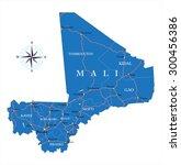 mali map   Shutterstock .eps vector #300456386