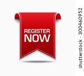 register now red vector icon... | Shutterstock .eps vector #300460952