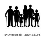 big happy family. father ...   Shutterstock .eps vector #300463196