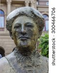 Small photo of Statue of Aletta Jacobs in front of the Groningen University in The Netherlands