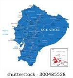 ecuador map | Shutterstock .eps vector #300485528