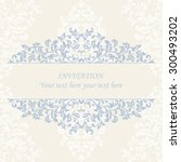 elegant invitation. decorative... | Shutterstock .eps vector #300493202