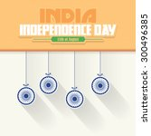 india independence day 15... | Shutterstock .eps vector #300496385