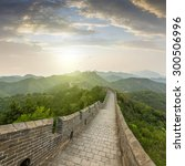 the majestic great wall ... | Shutterstock . vector #300506996