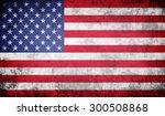 grunge usa flag | Shutterstock . vector #300508868
