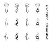 tie icons. | Shutterstock .eps vector #300512975