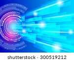 abstract technology lines with... | Shutterstock . vector #300519212