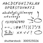 hand drawn black marker set of...