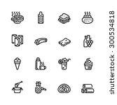 food icon set   Shutterstock .eps vector #300534818