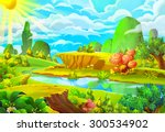 illustration  the sun and the...   Shutterstock . vector #300534902