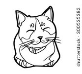sketch of the  cat on white... | Shutterstock .eps vector #300535382