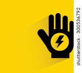 electric shock risk sign | Shutterstock .eps vector #300536792