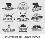 set of outdoor wilderness... | Shutterstock .eps vector #300540926