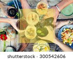 copy space frame summer... | Shutterstock . vector #300542606