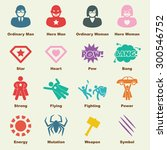 superhero elements  vector... | Shutterstock .eps vector #300546752