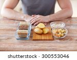 healthy eating  diet and people ... | Shutterstock . vector #300553046