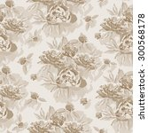 vintage seamless pattern with... | Shutterstock .eps vector #300568178