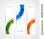 vector set of three header... | Shutterstock .eps vector #300574316